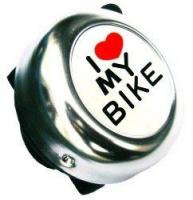 "Звонок ""I love my bike"", сталь, серебристый для велосипеда"